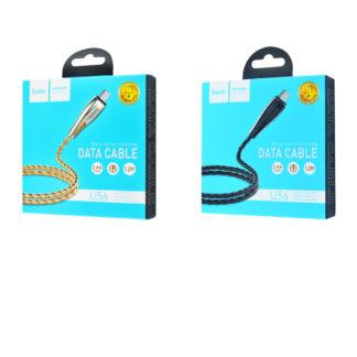 Дата кабель Hoco U56 Metal Armor Micro USB Cable (1.2m)