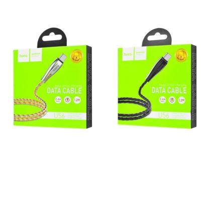 Дата кабель Hoco U56 Metal Armor Type-C Cable (1.2m)